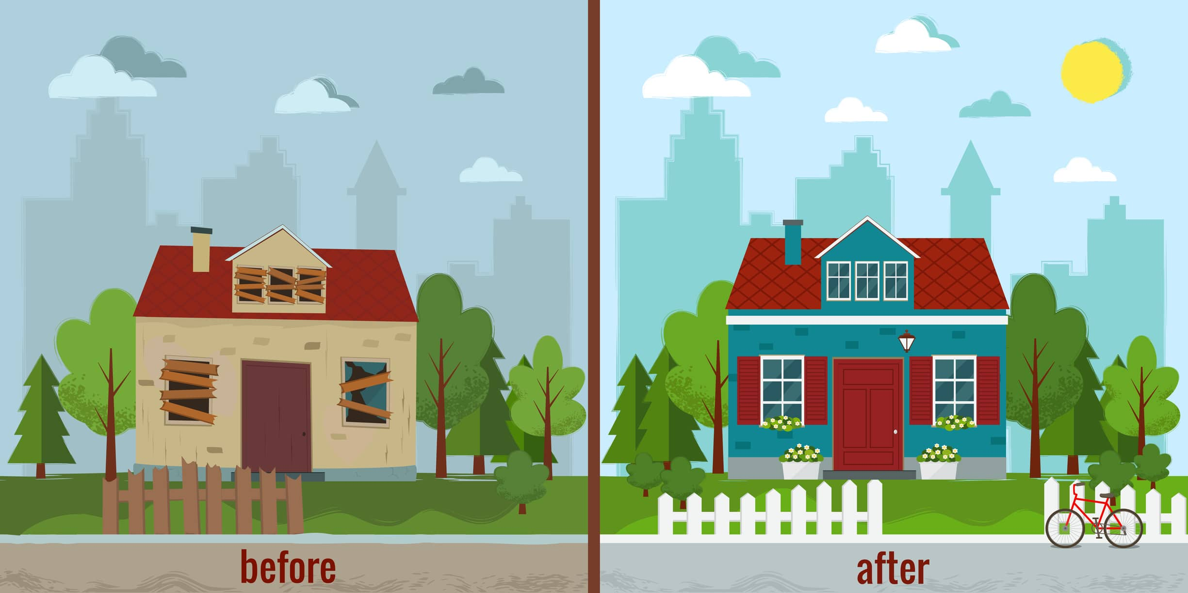 Before and After View Flipping Houses in Minnesota