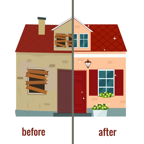 Repairs to flip a house in MN